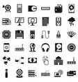 web operation icons set simple style vector image vector image