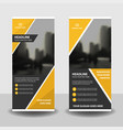 Yellow business roll up banner flat design
