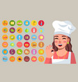 young woman in cook clothes cook homemade food vector image