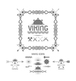 Viking icons design elements vector image