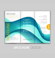 Abstract transparent fractal wave template vector image vector image