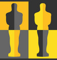 academy award icon in flat style isolated on white vector image vector image