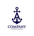 anchor letter a vector image
