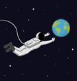 astronaut in space space exploration concept vector image