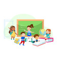 back to school education children characters in vector image