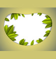 background with green fresh leaves paper cut vector image vector image