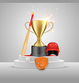 baseball sport game championship winner trophy vector image
