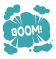 boom expression sticker or emoji or explosion vector image