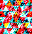 bright triangle seamless pattern vector image vector image