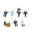 businessman at party set celebratory cap and vector image vector image
