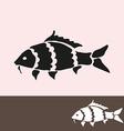 carp symbol vector image