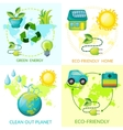 Cartoon Ecology Concept vector image vector image