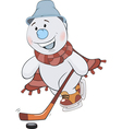 Cheerful snowball the sportsman vector image