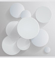 circular business pattern design abstract white vector image