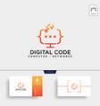 code programming monitor simple logo template vector image vector image