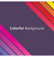 colorful background abstract design creative vector image vector image