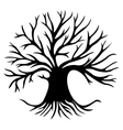 Decorative tree silhouette vector image