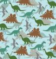 dinoasaur pattern vector image