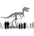 Dinosaur museum vector image vector image