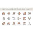 electric vehicle ev icon design 48x48 px vector image