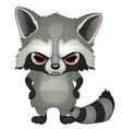 evil raccoon with red eyes with paws on hips vector image vector image