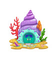 fairy sea shell house or dwelling sorceress vector image vector image