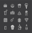 Fast food icons vector image
