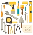 flat design DIY and home renovation tools vector image