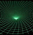 green grid wormhole vector image vector image