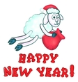greeting card with New Years sheeps vector image