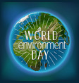 happy world environment day card vector image