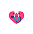 heart with stethoscope icon vector image vector image