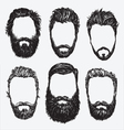 Hipster hair and beard set vector image