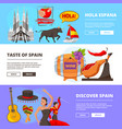 horizontal banners with of cultural vector image vector image
