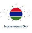 independence day of gambia patriotic banner vector image vector image