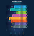 infographic elements - curled sticker bar chart vector image vector image