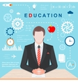 Infographics of Education vector image vector image
