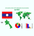 lao pdr all countries of the world infographics vector image