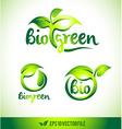 Leaf Logo Icon Green Leaf Design Set vector image