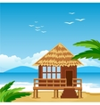 Lodge on beach vector image