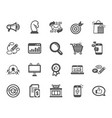 marketing icons strategy feedback vector image