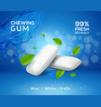 mint chewing gum background fresh breath vector image vector image