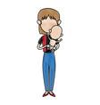 mother holding baby infant motherhood innocence vector image vector image