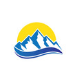 mountain wave icon logo image vector image vector image