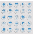 Natural disaster icons black vector image
