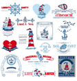 Nautical Sea Calligraphic Elements vector image vector image