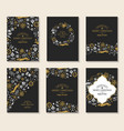 new year festive brochures vector image