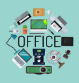 office concept banner poster vector image