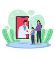 online doctor visiting patient vector image vector image