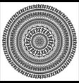 ornament monochromatic card with mandala vector image vector image
